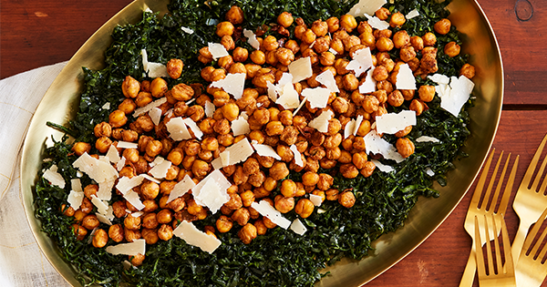 Kale Salad with Crispy Chickpeas