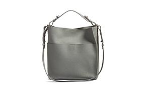 all saints grey hobo bag