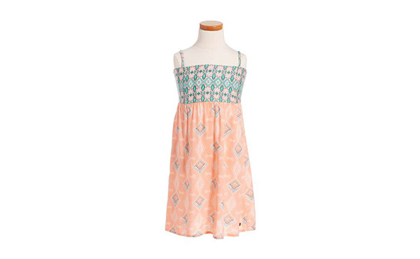 little girls dress peach new