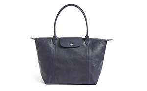 longchamp le pilage leather tote