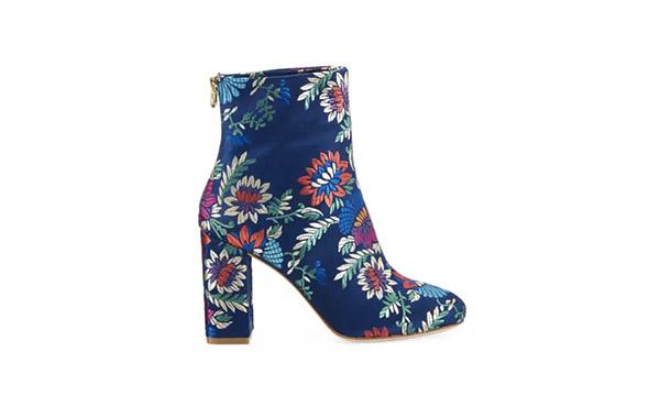 floral brocade booties