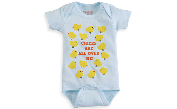 chicks are all over me onesie fam shoppable