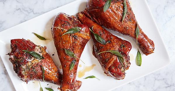 Maple-Herb Roasted Turkey Legs