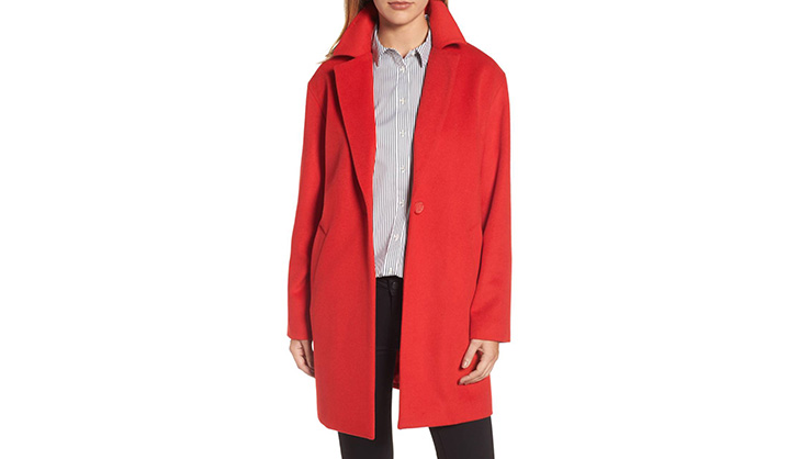 pop of red halogen coat saturday shoppable