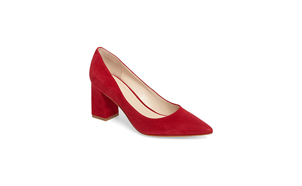 Marc Fisher Red Suede Pump