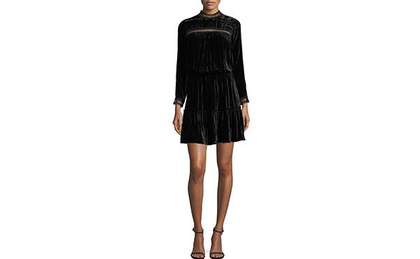 Shoshanna Black Velvet Dress
