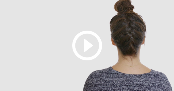 How To Do An Upside Down French Braid Purewow