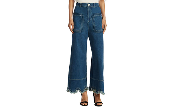 See by Chloe Scalloped Denim