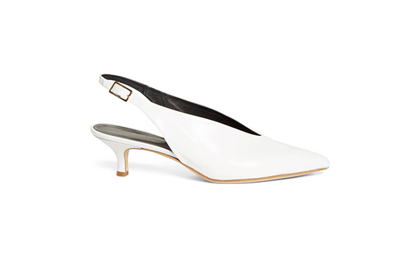 Tibi White Slingbacks