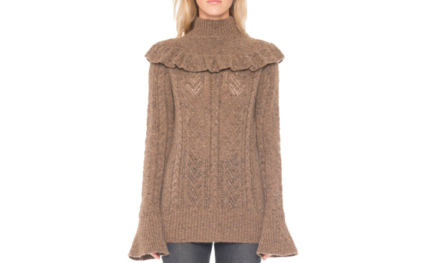 Willow and Clay ruffled sweater