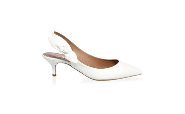 Tabitha White Kitten Heels