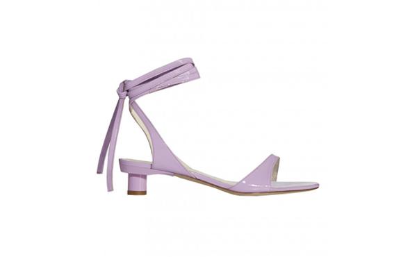 Tibi Lavender Lace up sandals