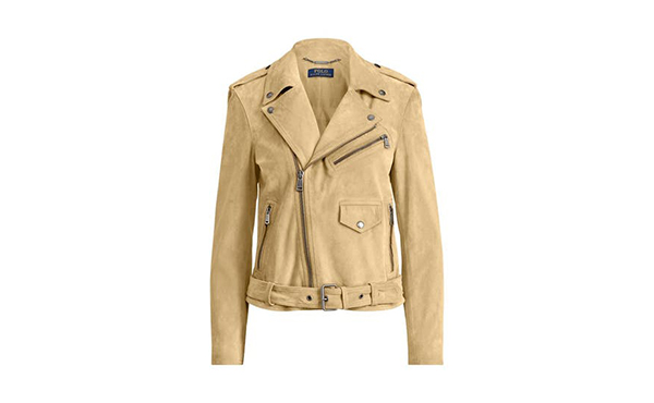 Yoox suede tan leather jacket