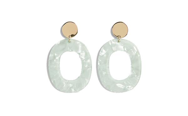 Express hoop earrings