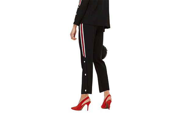 Topshop side striped pants