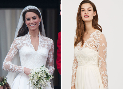 6602832a6c5 You Can Now Buy an Affordable Version of Kate Middleton s Wedding Dress at  H M