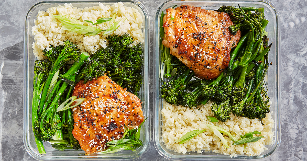 Meal Prep Honey Sesame Chicken With Broccolini Purewow