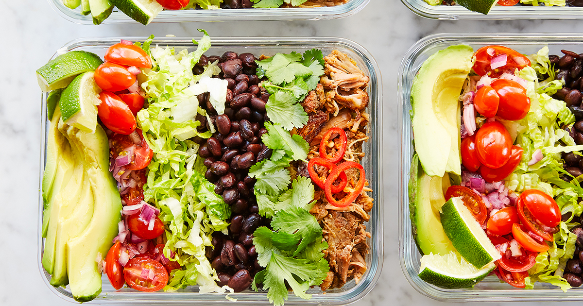 Slow-Cooker Meal-Prep Burrito Bowls