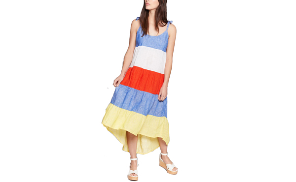 Joie linen striped dress