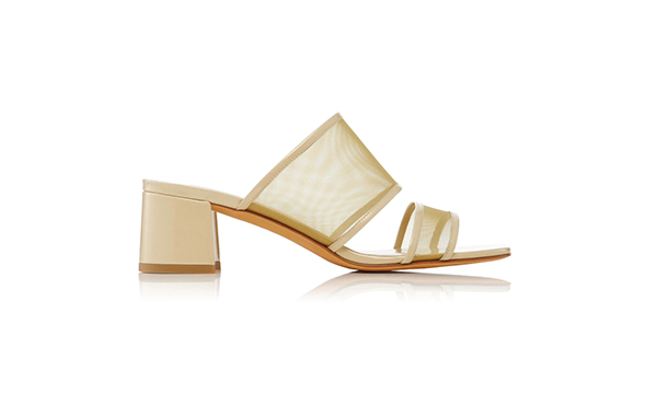 Maryam Nassir Zadeh Martina Leather And Mesh Slides