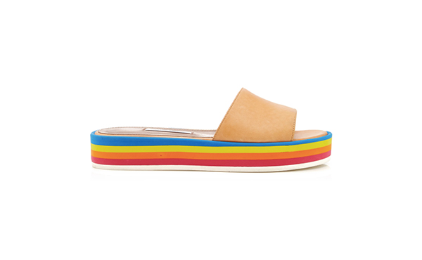 Tabitha Simmons rainbow slides