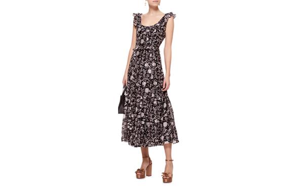 Ulla Johnson Brigitte Floral Organza Dress