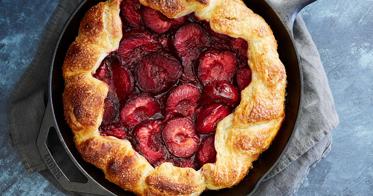 Puff-Pastry Plum and Thyme Galette