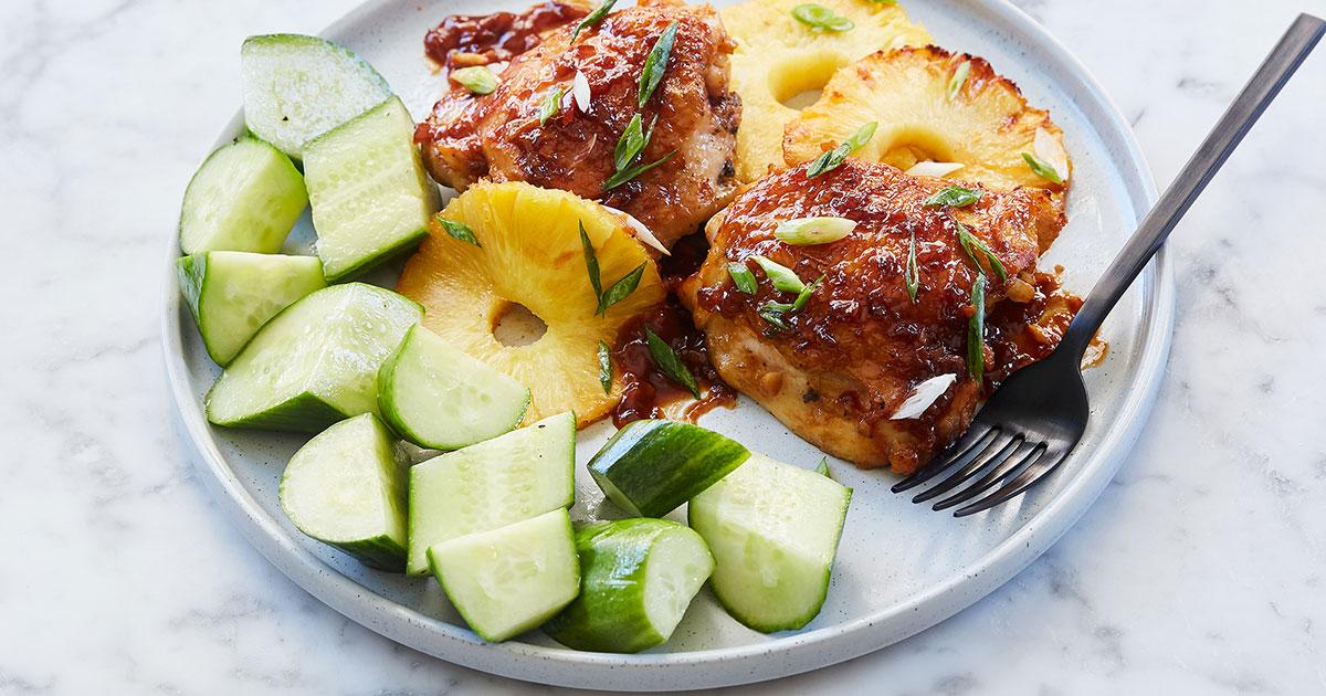 Pineapple Korean Chicken Thighs