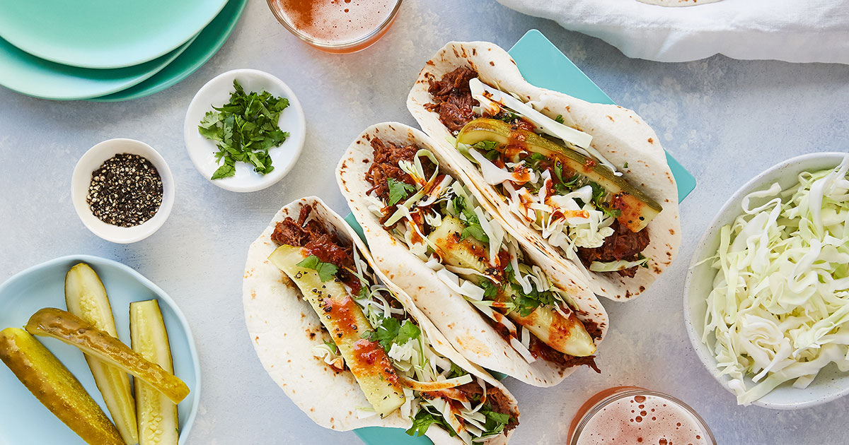 Slow-Cooker Korean Short Rib Tacos