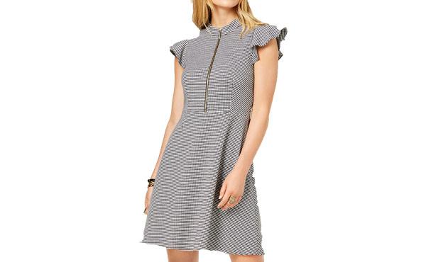 houdstooth dress1