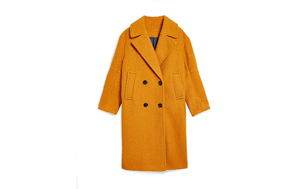 Mustard teddy coat 2