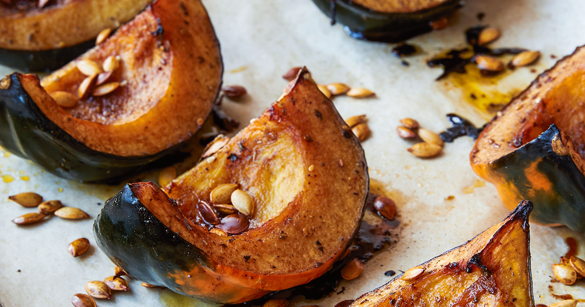 Dorie Greenspan's Roasted Acorn Squash Wedges