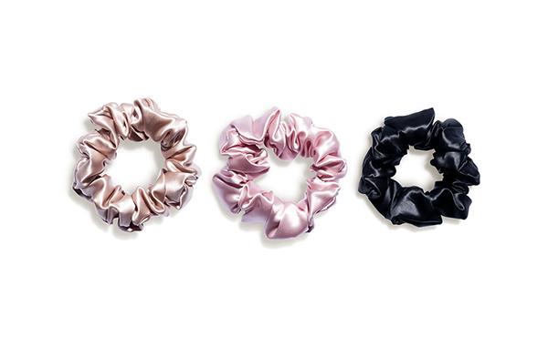 slip silk scrunchies