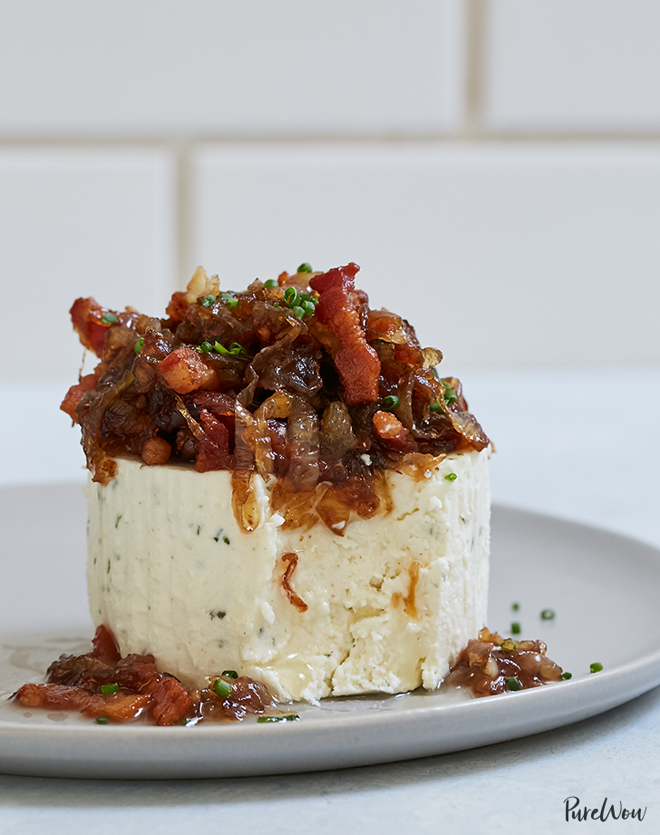 Boursin Cheese with Caramelized Onions and Bacon