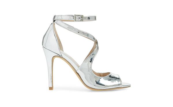 charles david silver heels
