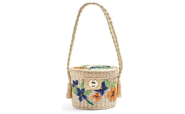 straw topshop bag