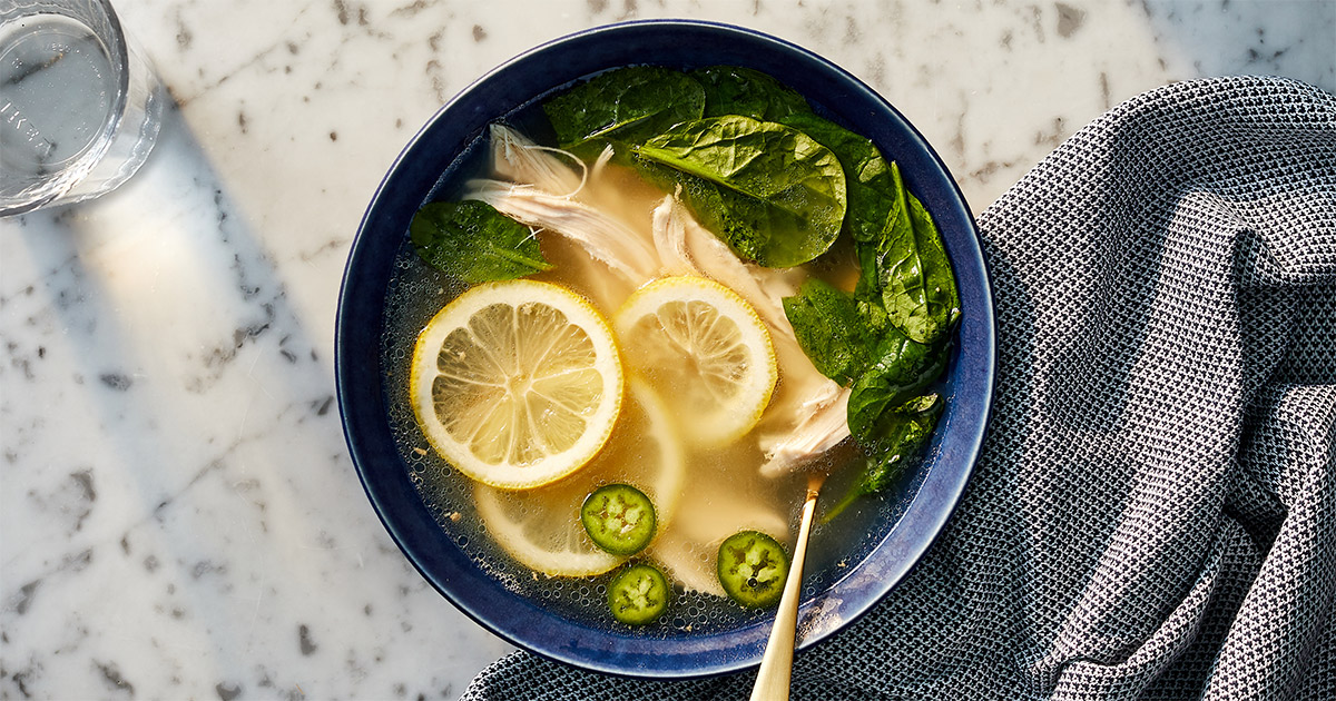 Spicy Lemon-Ginger Chicken Soup