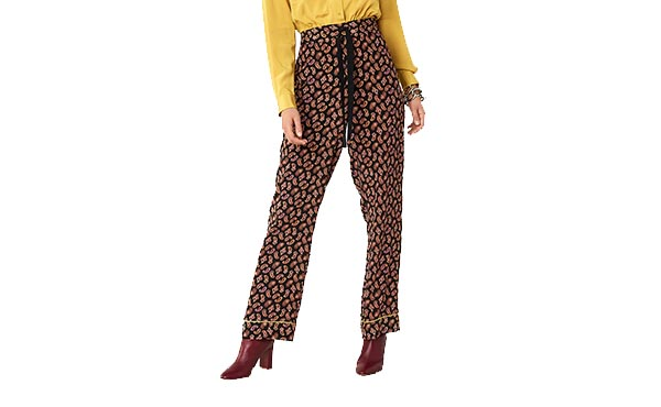 dvf silk pants