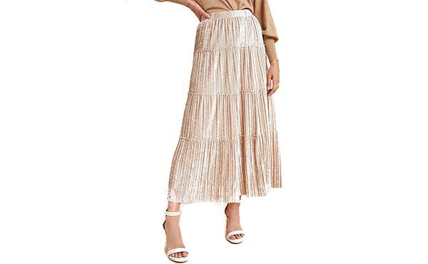 velour skirt