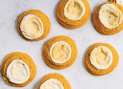 Sweet Potato Sugar Cookies with Marshmallow Topping