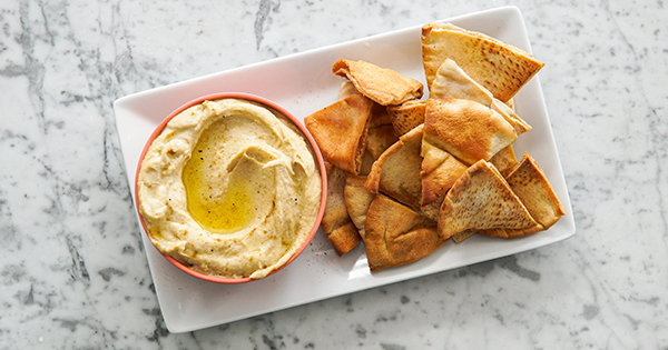 Easy Homemade Hummus with Za'atar Pita Chips