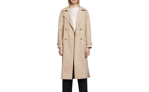 Sandro Victory Plaid Trench Coat1