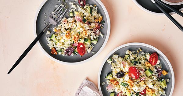 Keto Instant Pot Greek Cauliflower Rice