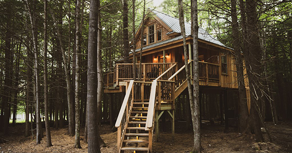 This Magical Treehouse Getaway in Maine Proves It's Never Too Early to Plan a Summer Escape