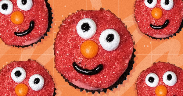 How to Make Elmo-Inspired Cupcakes, Because Your Kids Can't Get Enough of 'Sesame Street'