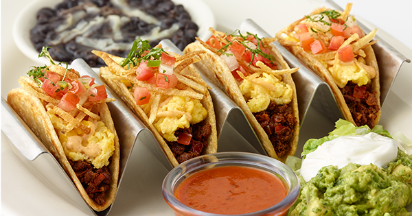 Here's The Cheesecake Factory's Recipe for Breakfast Tacos, Because We Know You Miss Going to Brunch
