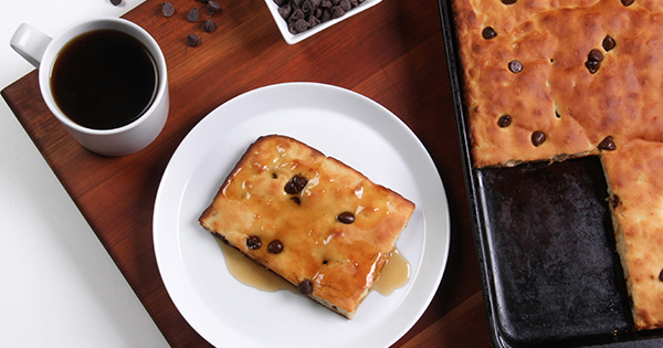 Sheet-Pan Pancakes with Chocolate Chips