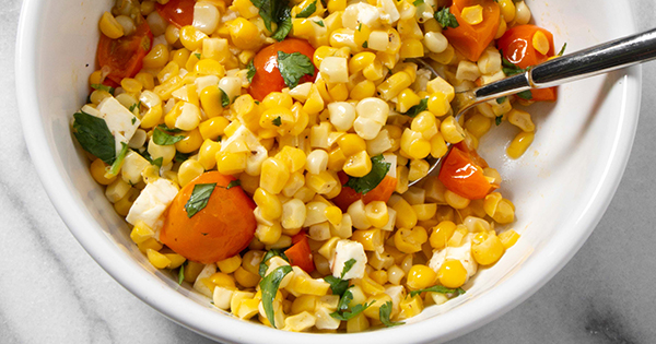 Corn and Tomato Salad with Feta and Lime