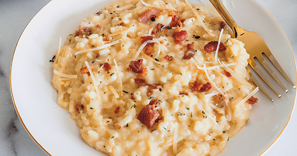 Instant Pot Risotto à la Carbonara