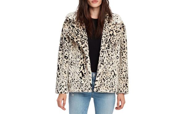 DVF Leopard print coat